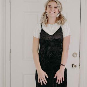 Crushed velvet TOPSHOP dress